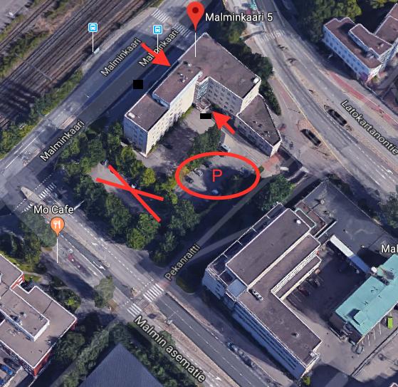 Karta över parkeringsplatser.